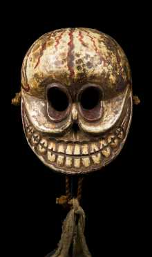 A Painted Himalayan Chitipati Mask, Nepal