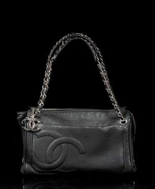 Chanel Pebbled Leather Handbag