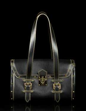 Louis Vuitton Black Good Leather Handbag