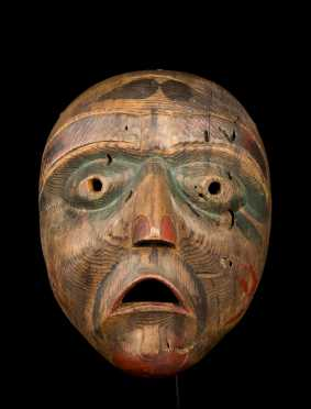 An Exceptional Northwest Coast Bella Coola (or Bella Bella) Mask