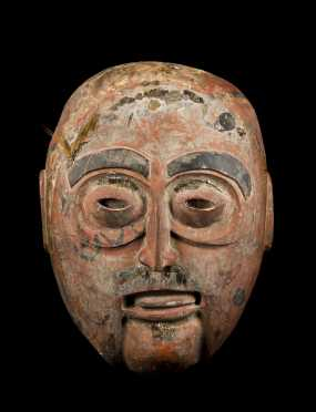 A Fine and Old Northwest Coast Display Mask, Nootka or Makah,