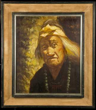 Native American Elder Painting