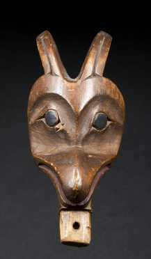A Fine Tlingit Stopper or Staff Finial