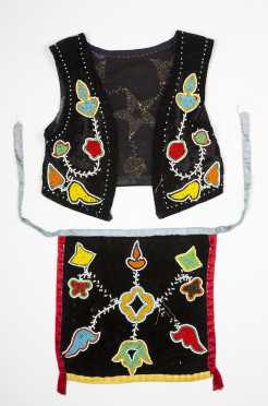 Native American Child's Beadwork Vest and Loin Cloth