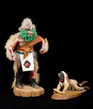 Two Native American Ceremonial Figures