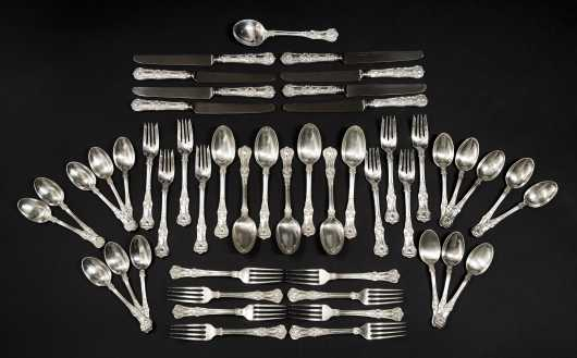 """Tiffany & Co."" Sterling Flatware, ""Kings"" Pattern Place Settings for Eight"