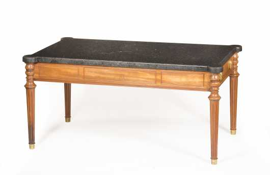 Beacon Hill Collection Black Stone Coffee Table