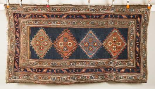 Antique Hamadan Scatter Size Oriental Rug