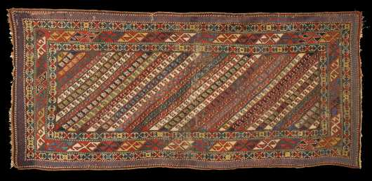 Antique Caucasian Runner Oriental Rug