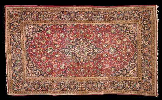 Kashan Scatter Size Oriental Rug