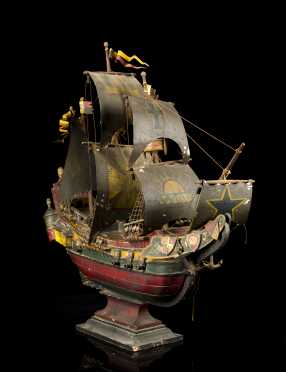 20thC Model of a 16thC Spanish Galleon