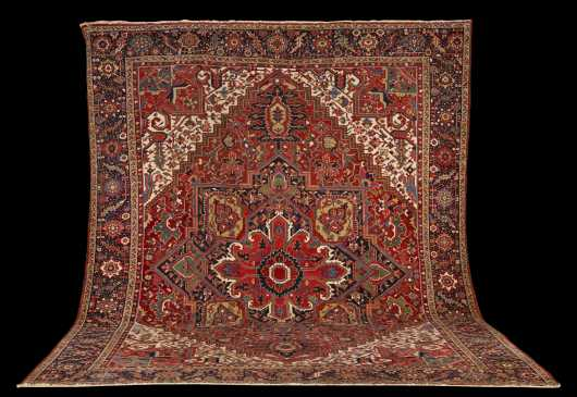 Antique Heriz Room Size Oriental Rug