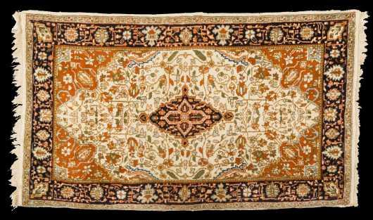 Modern Tabriz Style Scatter Rug