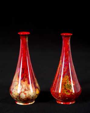 Pair of Royal Doulton Flambe Vases