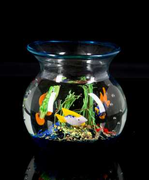"""Murano"" Glass ""Fish Bowl"" Paper Weight"