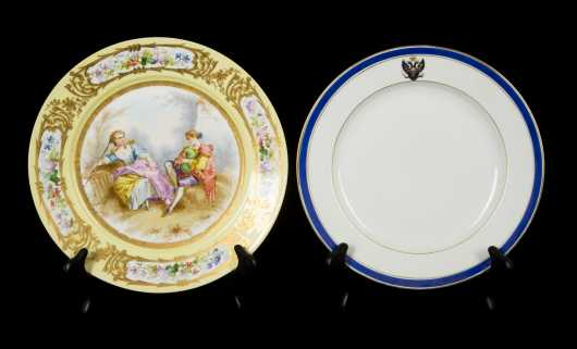 Two 19thC Porcelain Continental Plates
