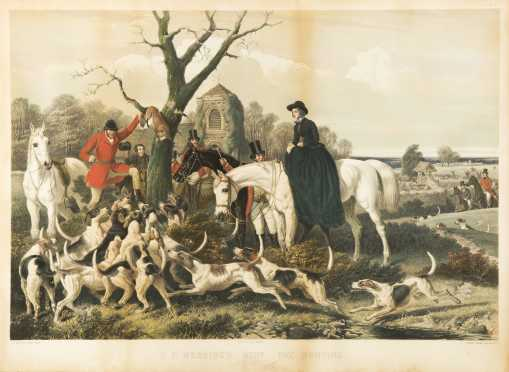 Set of Four Large Folio English Hunt Prints