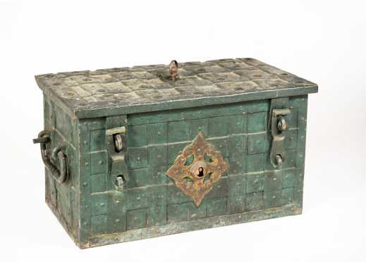 17th Century Wrought Iron German Armada Chest