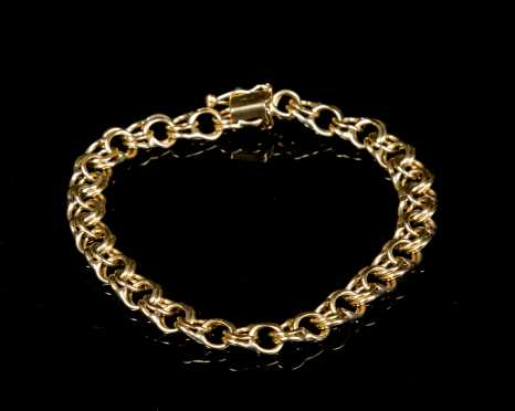 Double Link 14kt. Yellow Gold Bracelet