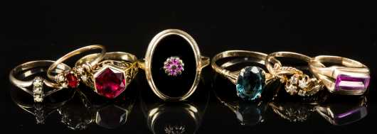 Victorian Lot of Seven Rings