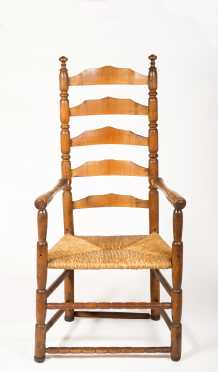 Five Slat Ladderback Armchair