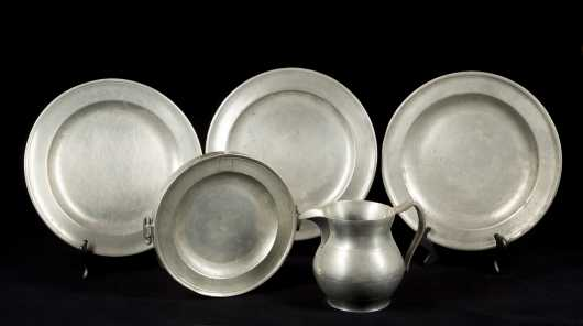 Lot of Pewter Plates and Pitcher