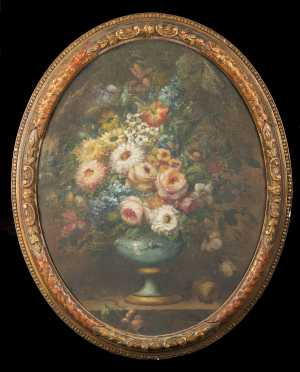 Italian Still Life Painting of Flowers