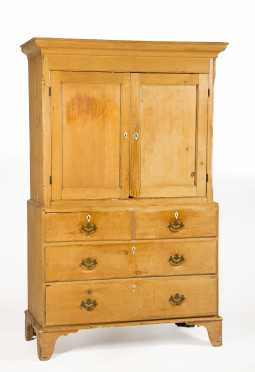 English Pine Two Part Linen Press
