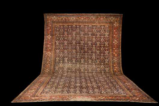Antique Mahal Room Size Oriental Rug
