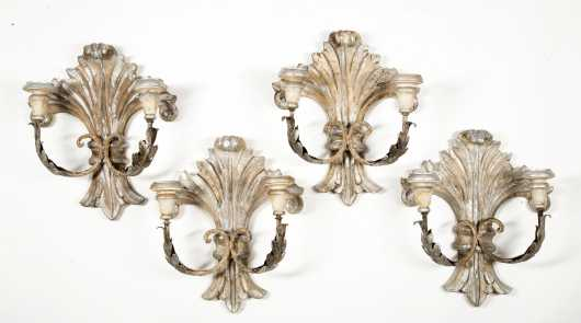 Set of Four French Style Wall Sconces