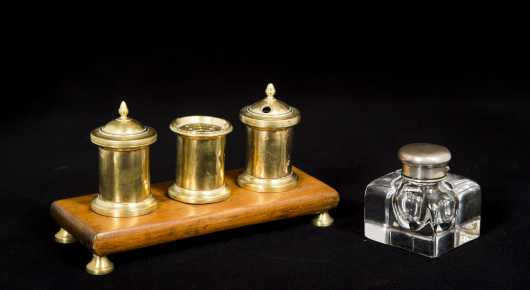 English Inkstand Lot