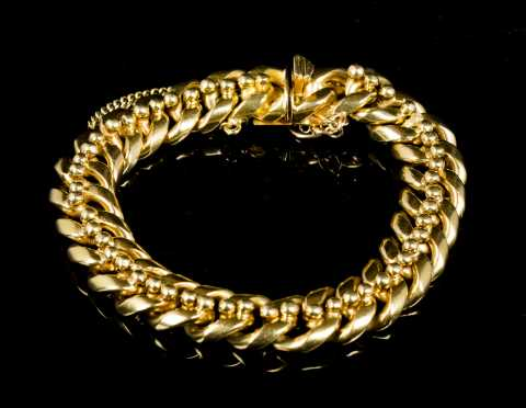 Heavy Women's 18kt Yellow Gold Bracelet