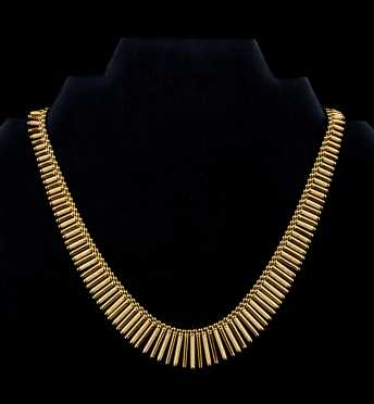 Yellow Gold 18kt Fringe Necklace