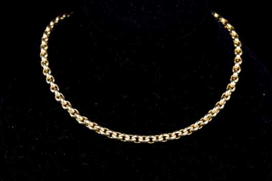 Cable Link Yellow Gold 18kt Necklace