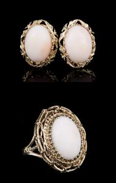 Angel Coral 14kt Ring and Earrings