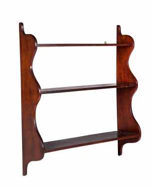 Cherry Scallop Sided Hanging Shelf