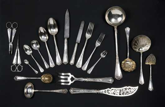 French 19thC Boxed Silver Service for Twenty-Four