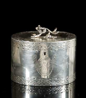 English Silver Georgian Tea Caddy