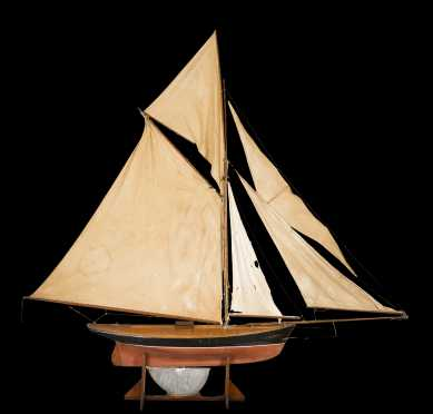 English E20thC Pond Model Sailboat