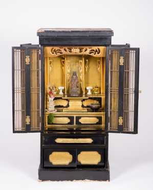 Chinese Lacquered Wood Shrine