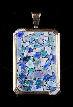 Opal Mosaic Pendant