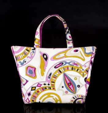Emilio Pucci Fabric and Leather Tote