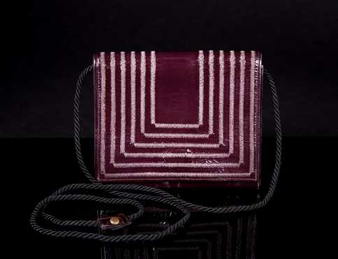 Fendi Aubergine Cross Body Bag