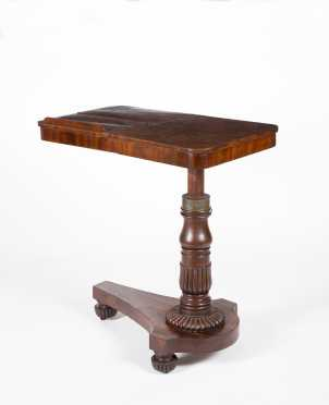 English Empire Mahogany Adjustable Reading Table