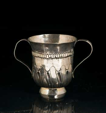 George III Double Handled Silver Porringer Cup **AVAILABLE FOR $450.00**