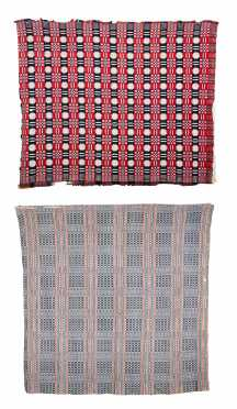 Two Early Homespun Coverlets