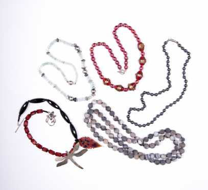 Five Beaded Necklaces