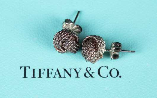 Tiffany & Co. Sterling Love Knot Earrings