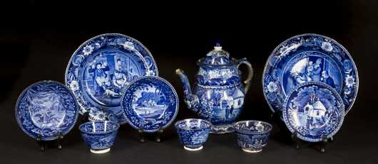 Lot of Historical Blue Staffordshire