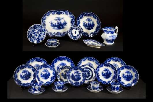Large Lot of Flow Blue and Other China